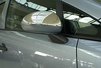 Opel Corsa D 2007↗ гг. Накладки на зеркала (2 шт, нерж)