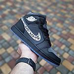 Мужские рефлективные кроссовки Nike Air Jordan 1 Retro High Dior (черные) 10317, фото 4