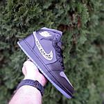 Мужские рефлективные кроссовки Nike Air Jordan 1 Retro High Dior (черные) 10317, фото 9