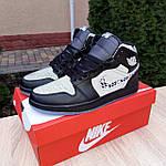 Мужские рефлективные кроссовки Nike Air Jordan 1 Retro High Dior (черные) 10317, фото 8