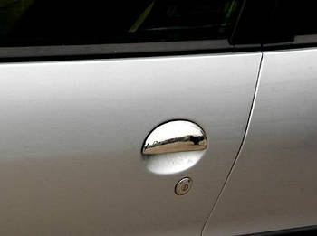 Peugeot 107 Накладки на ручки (нерж) 4 штуки, OmsaLine - Итальянская нержавейка