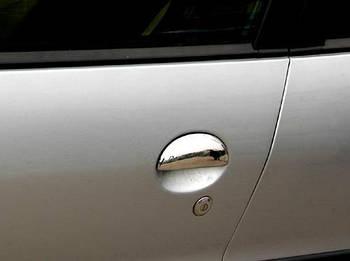 Peugeot 206 Накладки на ручки (нерж) 4 шт, OmsaLine - Итальянская нержавейка