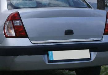 Renault Clio и Symbol 1999-2006 гг. Кромка багажника (Sedan, нерж.)