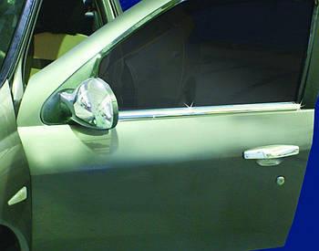 Renault Clio и Symbol 2009-2012 гг. Наружняя окантовка стекол (4 шт, нерж.)