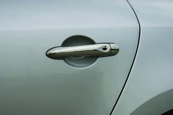 Renault Megane III 2009-2016 гг. Накладки на ручки (4 шт., нерж.) Без чипа, Carmos - Турецкая сталь