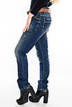 Женские джинсы бойфренды J 294 синие, фото 4