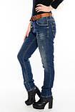 Женские джинсы бойфренды J 294 синие, фото 6