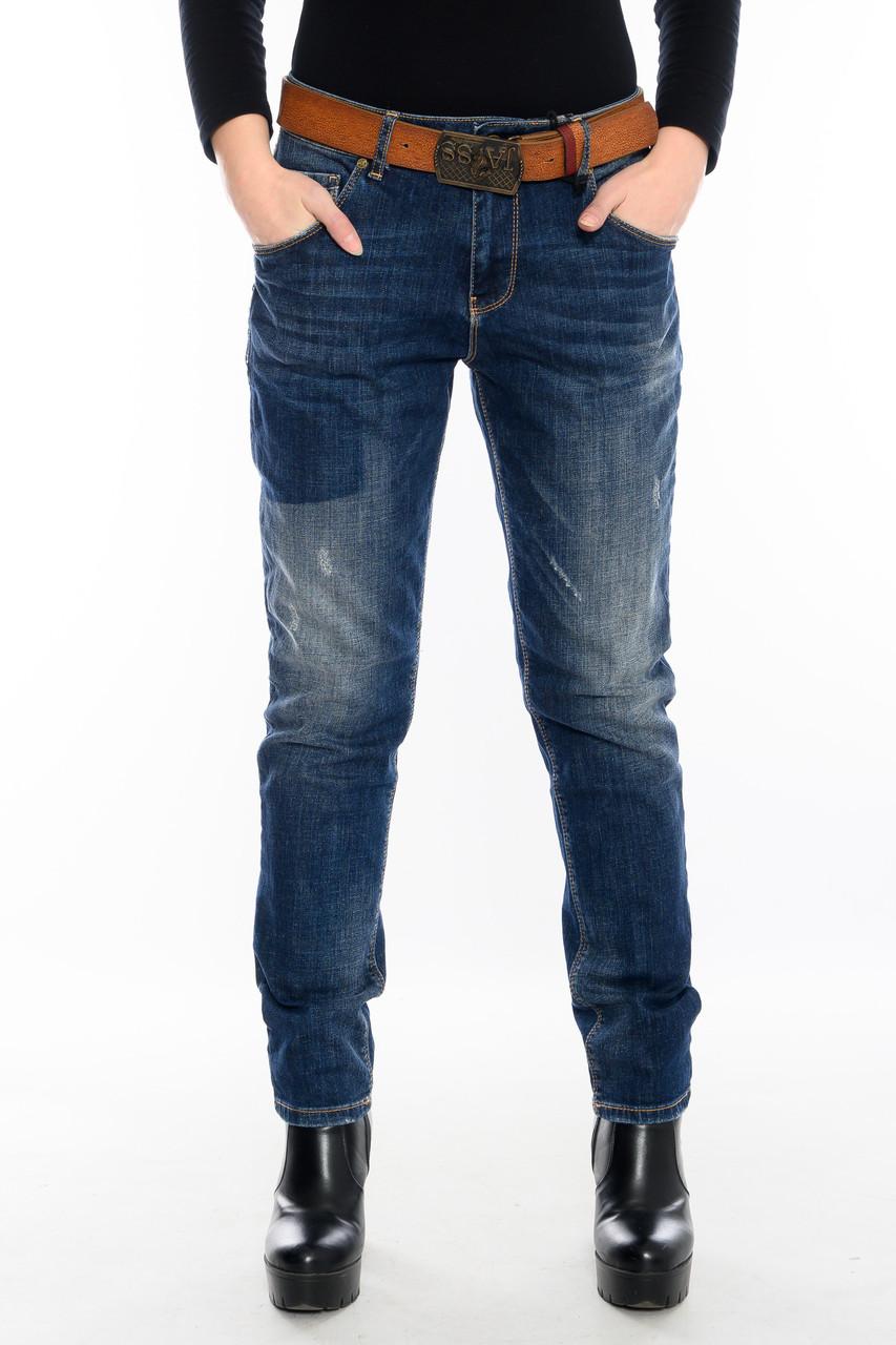Женские джинсы бойфренды J 294 синие