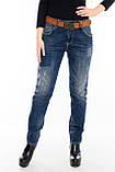 Женские джинсы бойфренды J 294 синие, фото 9