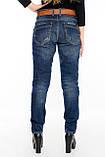Женские джинсы бойфренды J 294 синие, фото 2