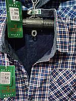 Рубашка теплая мужская на пуговицах на флисе батальная