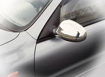 Daewoo Lanos Накладки на зеркала (2 шт) Полированная нержавейка