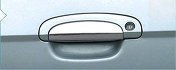 Hyundai Getz Накладки на ручки (4 шт) Carmos - Турецкая сталь