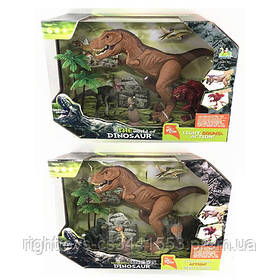 Динозавр RS006-1-2 (18шт) 4шт(5-27см), дерево, звук, свет, 2вида, бат-таб, в кор-ке, 33-22,5-13см