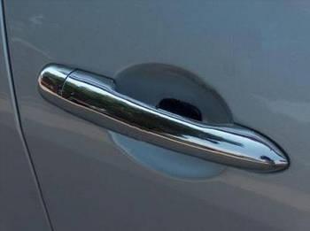 Renault Megane II 2004-2009 гг. Накладки на ручки (4 шт, нерж) Carmos - турецкая сталь