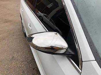 Volkswagen Jetta 2011-2018 гг. Накладки на зеркала (2 шт, нерж) OmsaLine - Итальянская нержавейка