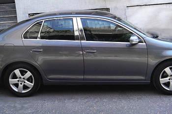 Volkswagen Jetta 2006-2011 гг. Верхняя окантовка стекол (нерж)