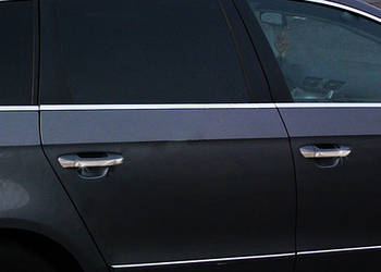Volkswagen Passat B6 2006-2012 гг. Нижние молдинги стекол (4 шт, нерж.) OmsaLine - Итальянская нержавейка