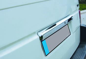 Volkswagen T4 Caravelle/Multivan Планка над номером (нерж.) Распашные двери, Carmos - Турецкая сталь