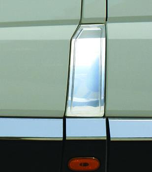 Mercedes Sprinter 2006-2018 гг. Накладка на бак (нерж) OmsaLine - Итальянская нержавейка
