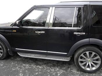 Land Rover Discovery IV Окантовка стекол (4 шт, нерж.)