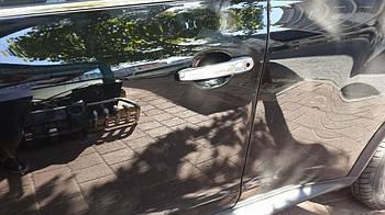 Nissan Juke 2010↗ гг. Накладки на ручки (4 шт) Без чипа, Carmos - Турецкая сталь