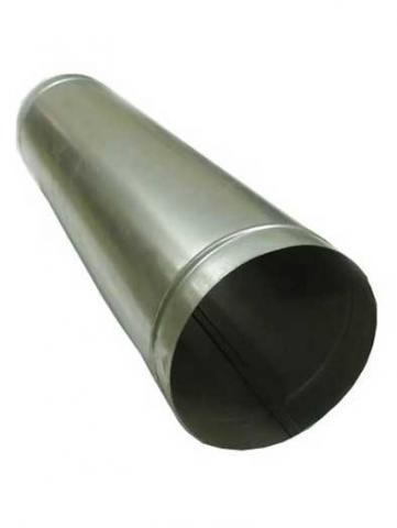 Труба одностінна ф 130 із оцинкованої сталі 0,5 м