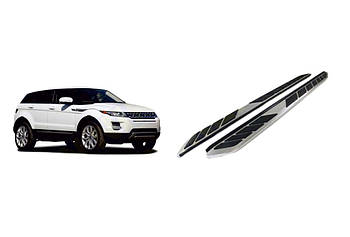 Range Rover Evoque 2012↗ гг. Боковые пороги OEM-V1 (2 шт., алюминий)