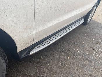 Mercedes GLE/ML klass W166 Боковые пороги Оригинальный дизайн (2 шт., алюминий)
