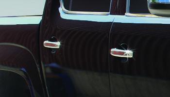 Volkswagen Amarok Накладки на ручки (4 шт, нерж) OmsaLine - Итальянская нержавейка