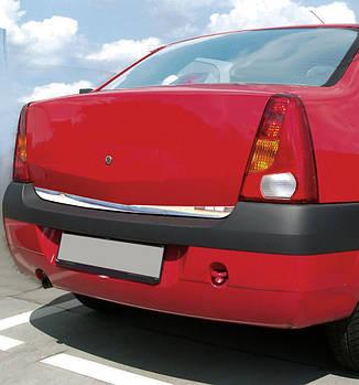 Renault Logan I 2005-2008 гг. Накладка нижней кромки крышки багажника (нерж.)