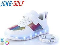 Кроссовки детские с подсветкой подошвы JongGolf 10127 кабель Usb р-ры 26-30