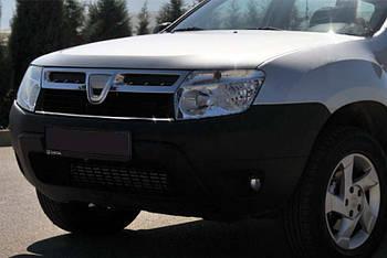 Dacia Duster 2008-2018 гг. Полоска на решетку радиатора 2008-2014 (нерж.)