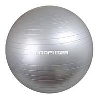 Мяч для фитнеса фитбол Profi Ball Серый (65 см) (MS 0276-G)