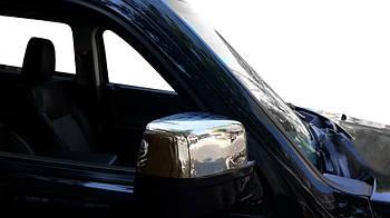 Dodge Nitro 2007↗ гг. Накладки на зеркала (2 шт, нерж.)