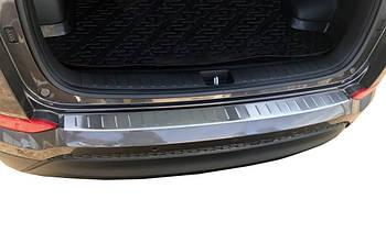 Hyundai Tucson TL 2016↗ гг. Накладка на задний бампер 2016-2018 (нерж)