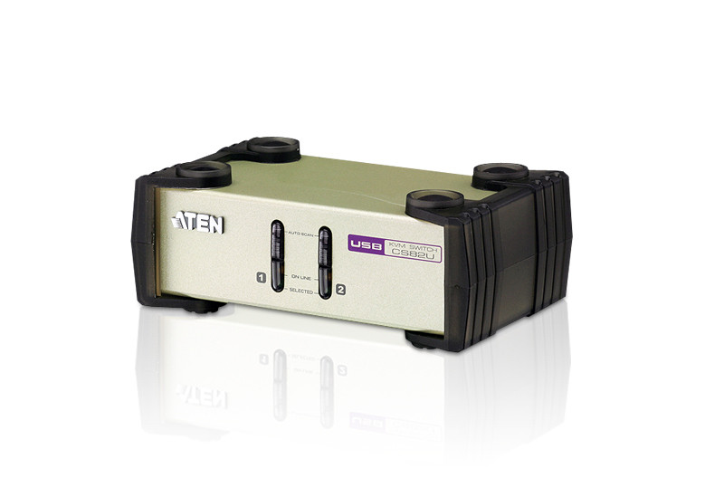 KVM коммутатор CS-82U 2-портовый   PS/2-USB
