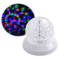 Цветомузыка диско лазер новогодний W-118 (3 цвета), 220V