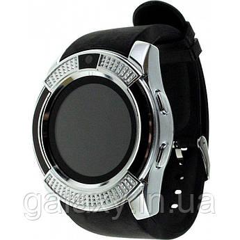 Смарт часы V8 c Bluetooth, камерой, поддержкой sim-карты Smart Watch Silver