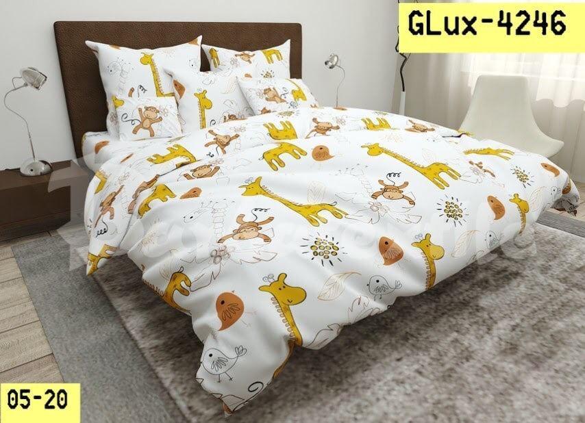 Детское полуторное постельное белье Жираф