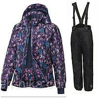Лыжный костюм для девочки (фиолетовая куртка и черные штаны) Crivit р.158/164см