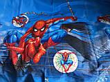 Детское полуторное постельное белье человек паук спайдермен, фото 2
