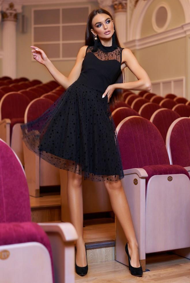 Платье Фея черный s