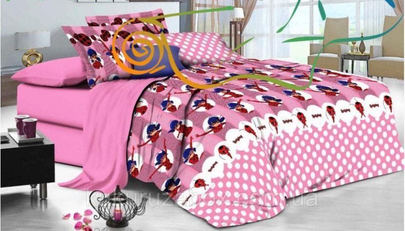 Детское полуторное постельное белье Леди Баг