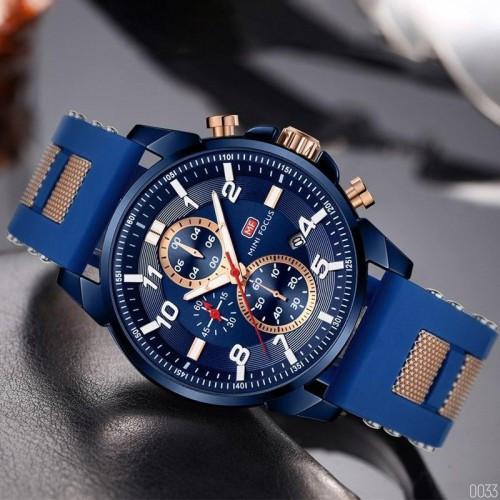 Молодіжний синій годинник Mini Focus MF0268G