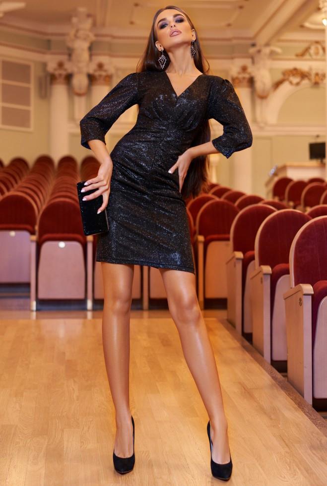 Платье Вивьен черный m l