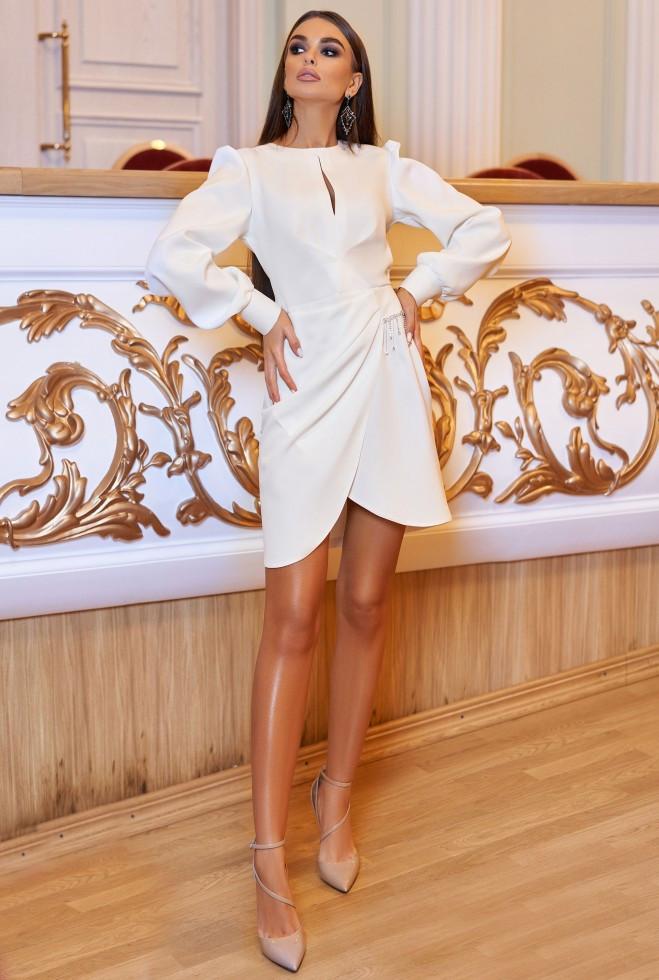 Платье Анна белый xl