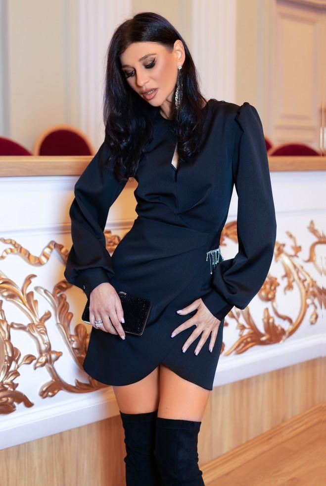 Платье Анна черный xl