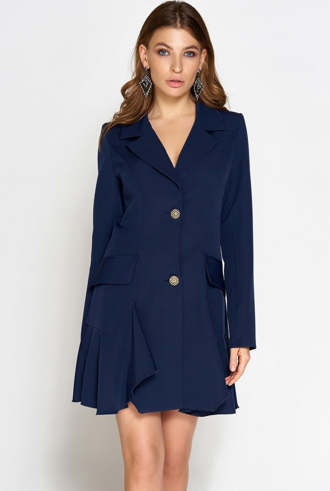 Платье Рита тёмно-синий s