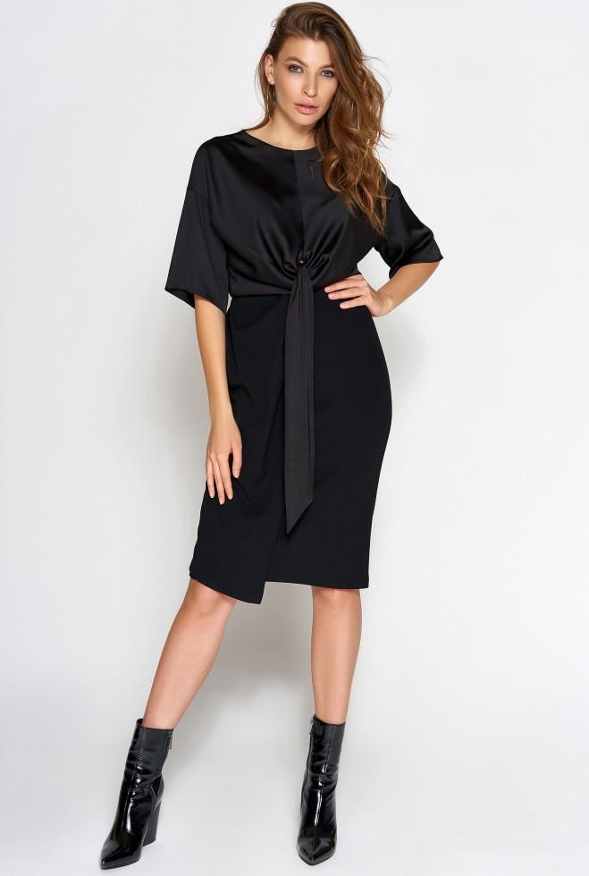 Платье Этель черный s
